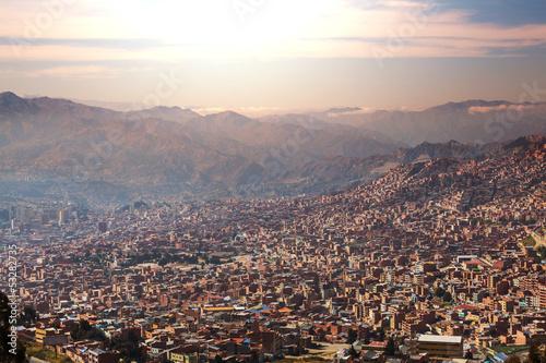 Poster de jardin Amérique du Sud La Paz