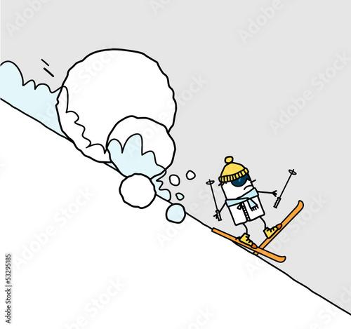Tablou Canvas ski & avalanche