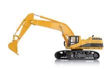 Excavator Toy On White Background