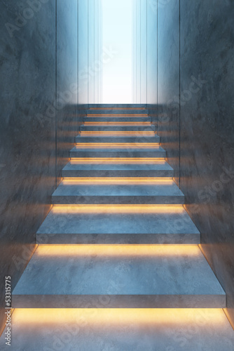 illuminated stairs Fototapeta