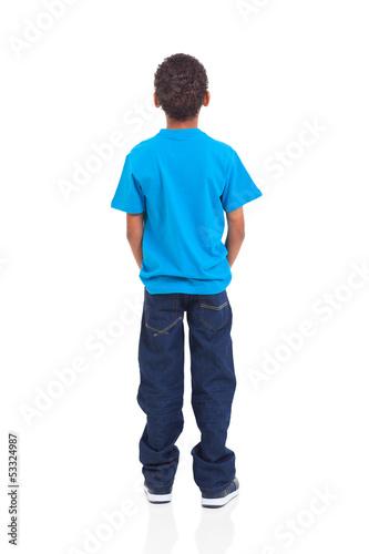 Fotografia rear view of african american boy