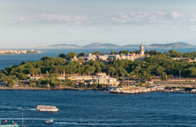 View Of The Seraglio Point With The Topkapı Palace, Istanbul, Turkey