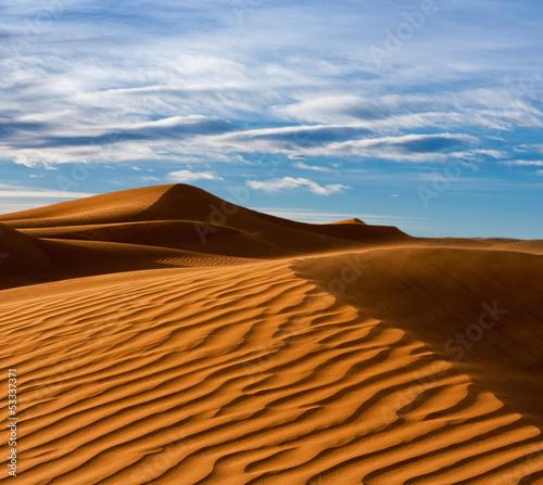 Desert of North Africa, sandy barkhans Wallpaper Mural