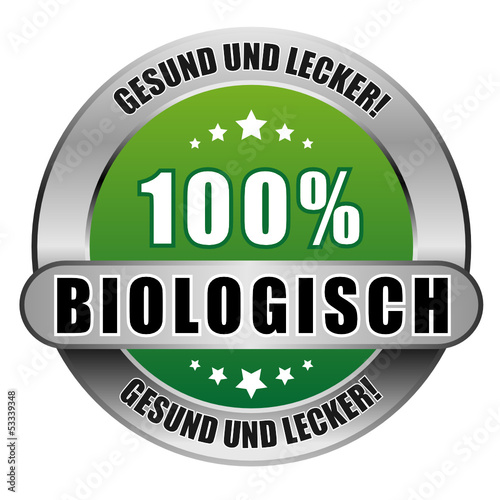 Photo  5 Star Button grün 100% BIOLOGISCH GUL GUL