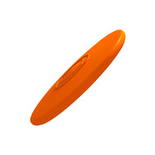 Orange Flying Disc (3D Render).