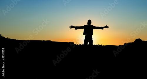 Worship at Sunset Slika na platnu