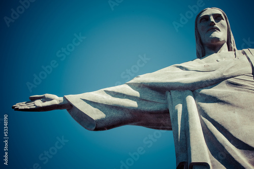 Christ the Redeemer statue in Rio de Janeiro in Brazil Poster