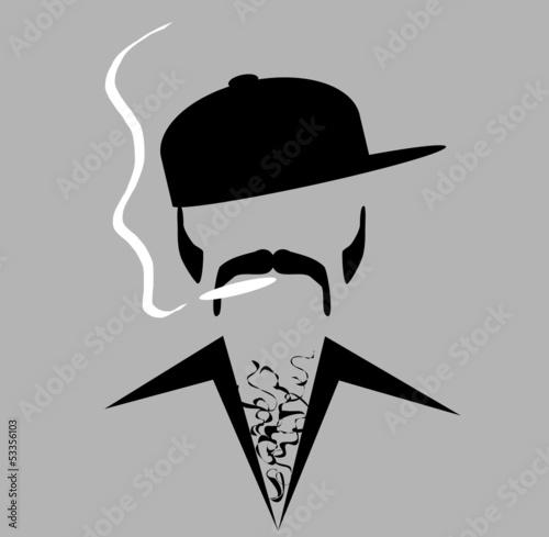 Slika na platnu retro man smoking