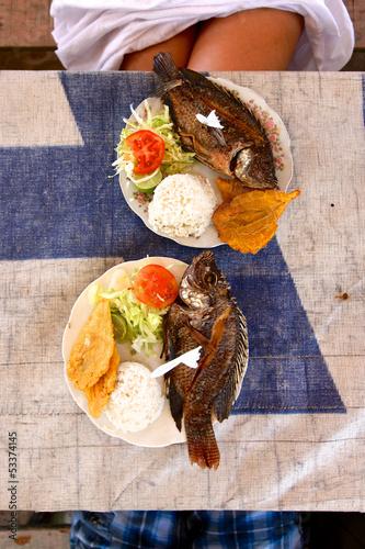 Foto op Plexiglas Caraïben Caribbean Seafood Lunch
