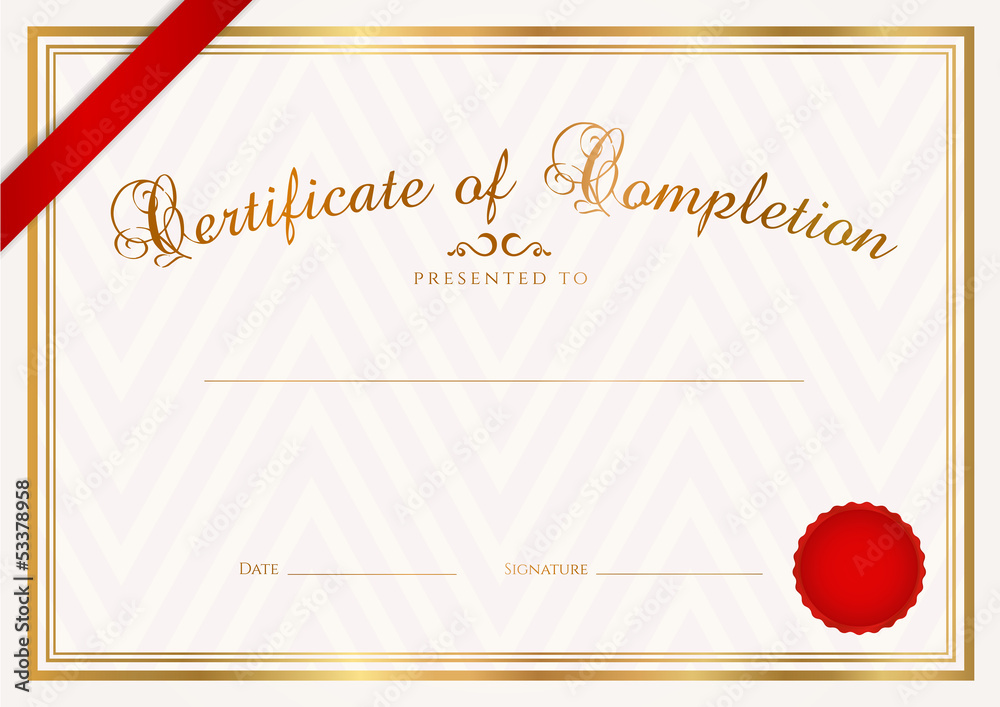 Photo Art Print Certificate Diploma Template Background Design