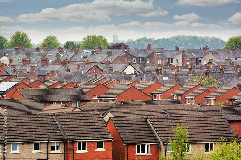 Fototapety, obrazy: terraced roof tops