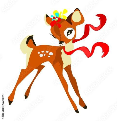 Cute deer Canvas Print
