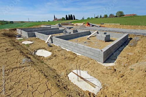 construction maison - vide sanitaire # czm - Buy this stock photo