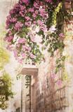 śródziemnomorski, grafika w stylu retro - 53391795