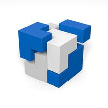 Modulares System: 3D-Illustrat...