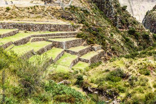 Fotografie, Obraz  Peru, Pisac-Inca ruins in the sacred valley,Peruvian Andes