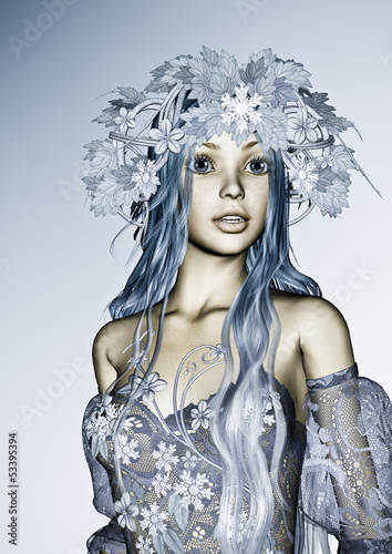 Staande foto Schilderkunstige Inspiratie Winter Girl