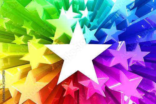 Colorful burst of stars