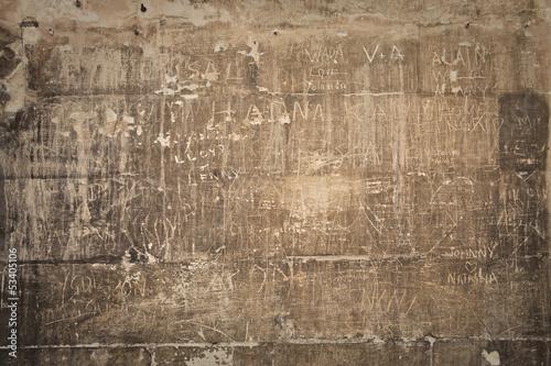 wall with graffiti