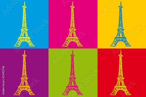 Tour Eiffel_Couleurs фототапет