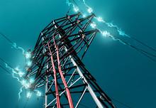 Torre De Alta Tensión.Concepto De Energia Electrica
