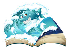 A Book With A Smiling Shark