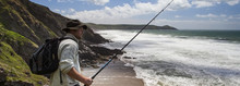 Fisherman At Home In The Landscape - Panorama