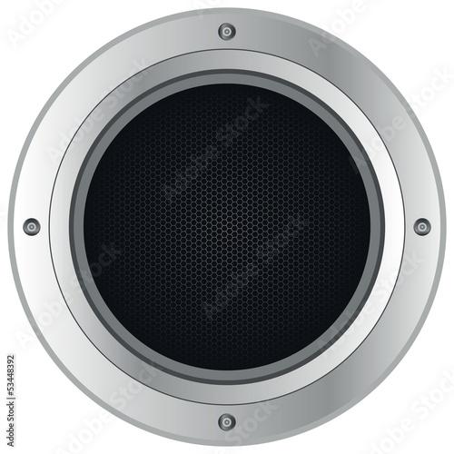 Photo silver loudspeaker