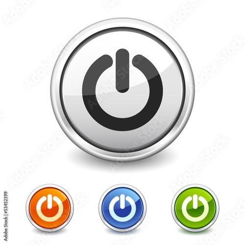Fotografía  power button in four colors