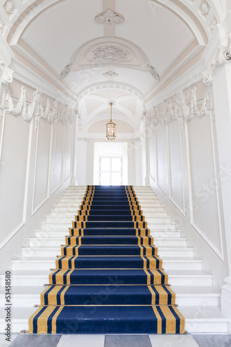 Fotografia Stairwell in the Polish palace. Royal castle in Warsaw