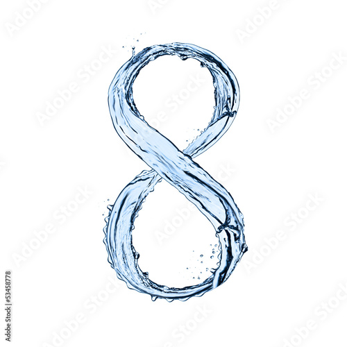 Water splashes number Wall mural