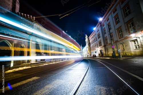 Fototapeta Night Traffic in Motion obraz