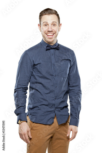 Photo Hipster man in bow tie