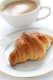croissant and cafe au lait