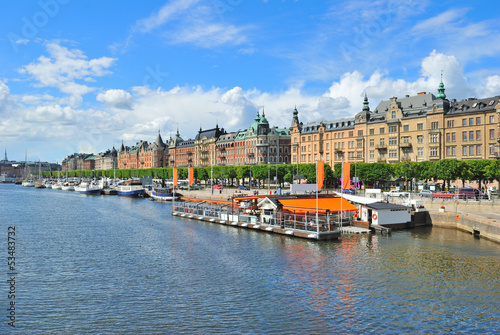Photo  Stockholm. Beautiful quay in Ostermalm