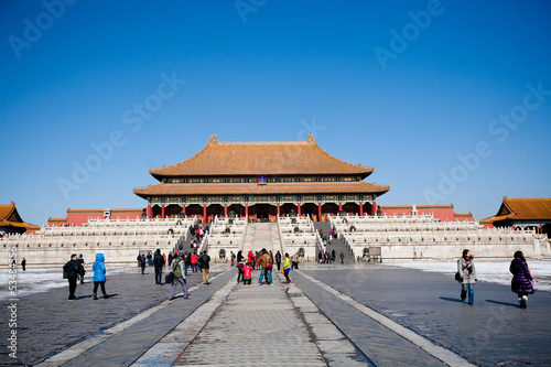 Photo Stands The Forbidden City