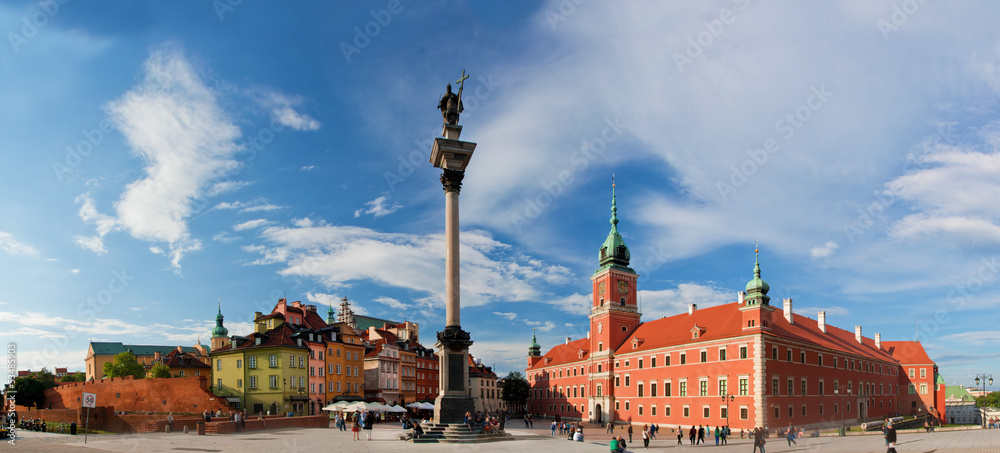 Fototapety, obrazy: Panorama of the old town in Warsaw, Poland