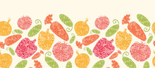 Vector Textured Vegetables Hor...
