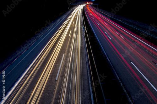 Fotografía  Nachtaufnahme - Autos auf Autobahn 2