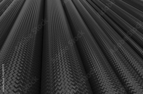 Fond de tubes en fibre de carbone Poster