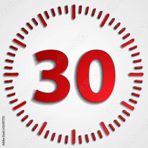 Fotografia  30 minutes button