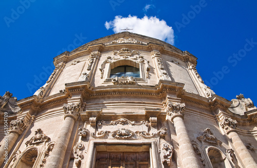 Church of St. Agostino. Massafra. Puglia. Italy. Canvas-taulu