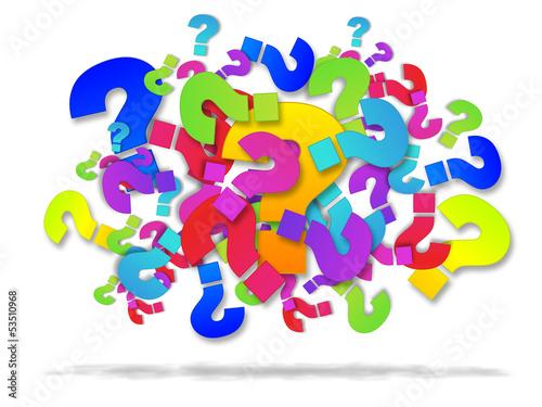 Punti interrogativi, domande che attendono risposte Canvas Print