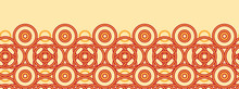 Vector Magical Celtic Circles Horizontal Seamless Pattern