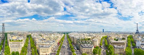 Papiers peints Paris Paris, panoramic view of from Arc de Triomphe. France
