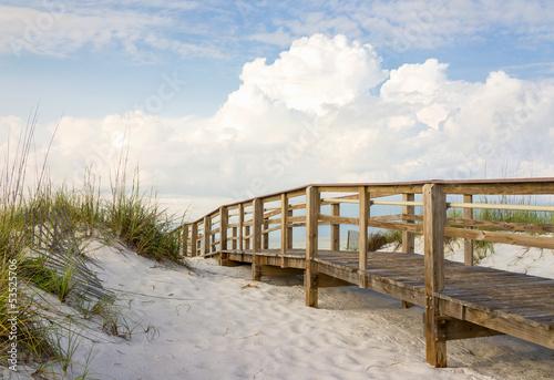 Obraz na płótnie Boardwalk in the Beach Sand Dunes