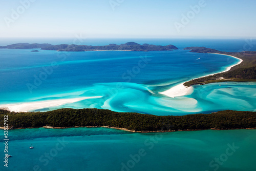 Foto op Canvas Australië Whitehaven Beach aerial view Whitsunday Islands