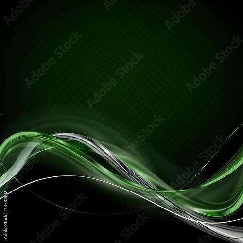 Fotografie, Obraz  zielone wstęgi na kratce