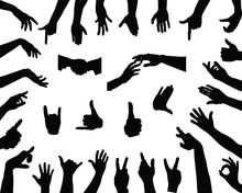 Hands Silhouettes-vector
