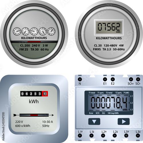 Fotografie, Obraz  electric meter